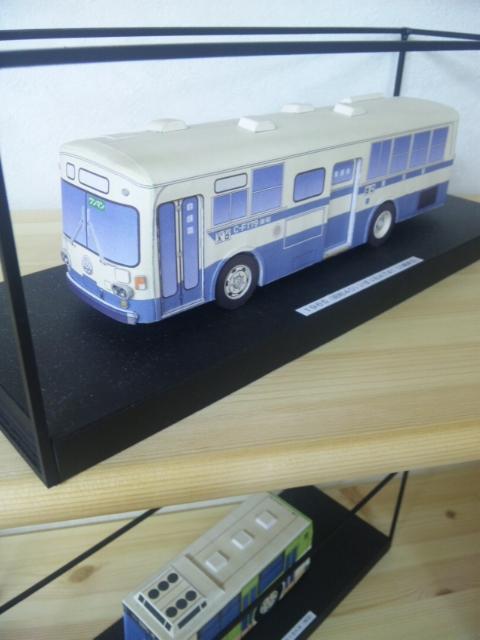 バス資料館の展示